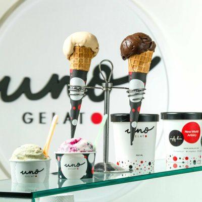 Artisanal gelato Uno Gelato