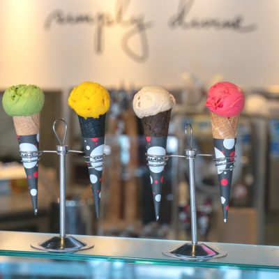 Artisanal gelato options