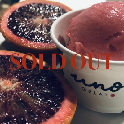 Uno Gelato blood orange sorbetto SOLD OUT