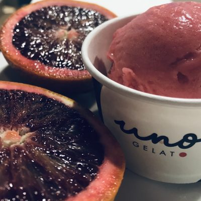 Uno Gelato blood orange sorbetto