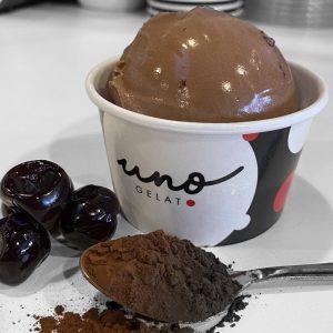 uno gelato chocolate amareno cherry gelato
