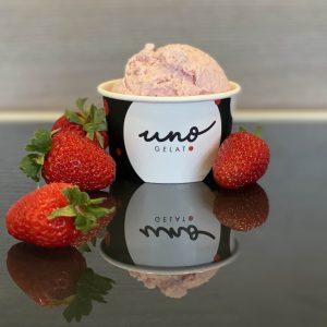 uno gelato - strawberry gelato