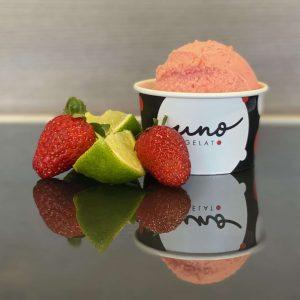 uno gelato - strawberry lime gelato